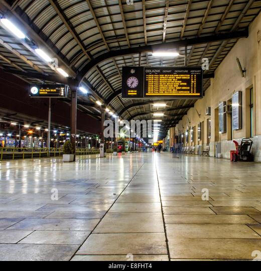 Croatia, Train platform - Stock Image