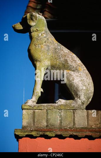 Statue of greyhound stock photos