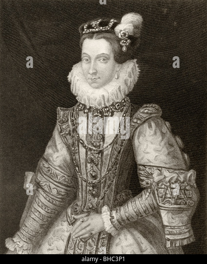 Anna of Austria, 1549 to 1580. Queen consort of Spain and Portugal. Wife of Philip II of Spain. - Stock Image