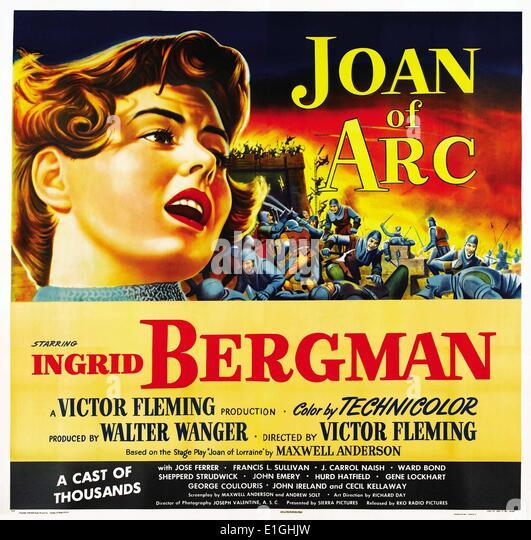 'Joan of Arc' a 1948 American epic historical drama film starring Ingrid Bergman. - Stock Image