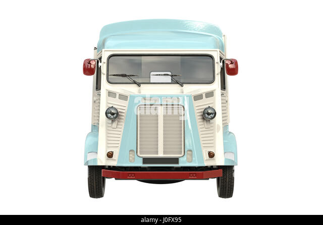 Food truck, front view - Stock Image