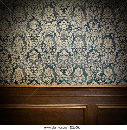 vintage wallpaper - Stock Image