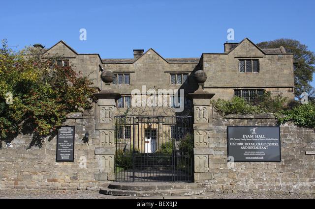Eyam Hall, Eyam, Derbyshire, England, U.K. - Stock Image