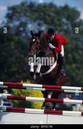SPORT Equestrian Show Jumping - Stock Image