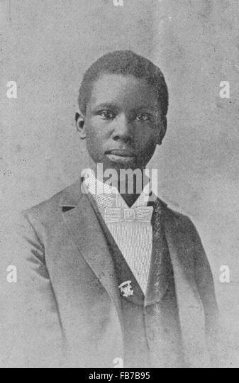 Paul Laurence Dunbar, American poet, novelist, and playwright - Stock Image