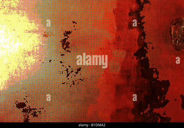 computer generated abstract metallic painting - Stock Image