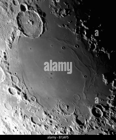 Craters on the Moon - Stock Image