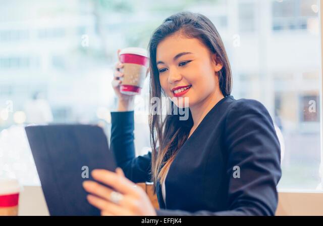Portrait of a asian businesswoman - Stock Image