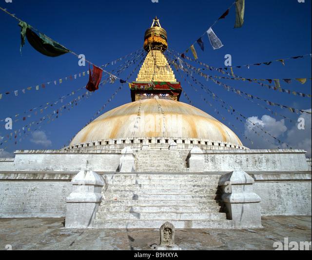 Boudhanath stupa, Chabahil, Kathmandu, Nepal, South Asia - Stock-Bilder