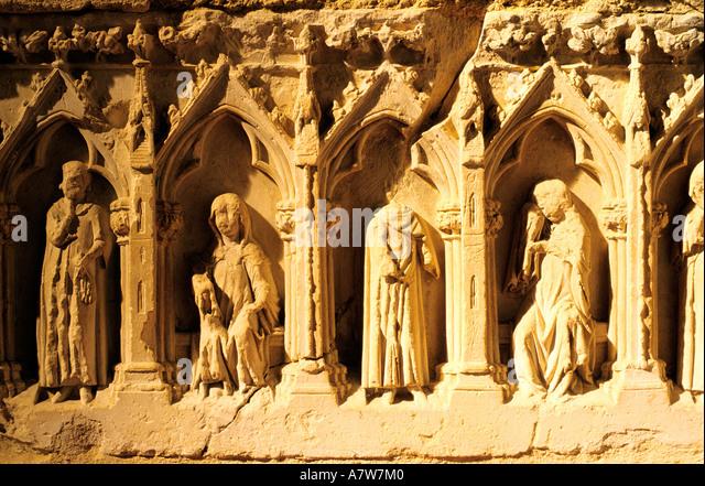Lessay abbey normandy france