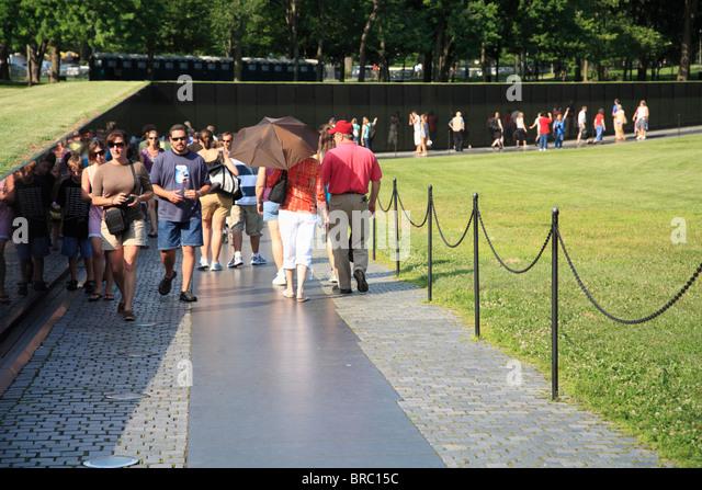 Vietnam Veterans Memorial, Washington D.C., USA - Stock Image