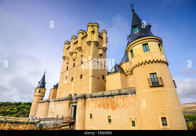 Segovia, Spain at the Alcazar castle. - Stock Image