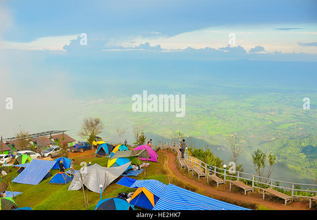 Travelling on the mountain in Thailand - Stock Image