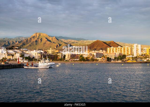 Harbour, Los Cristianos, Tenerife, Canary Islands, Spain - Stock-Bilder