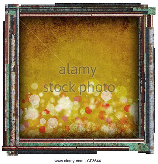 yellow sparkle abstract - Stock Image