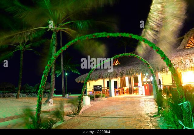 Caribbean Princess Resorts & Spa at dusk, Punta Cana, Dominican Republic - Stock Image