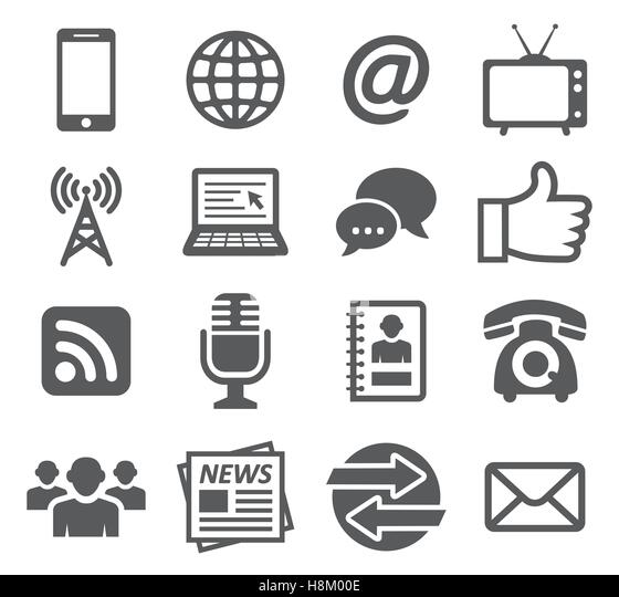 Communication icons - Stock Image