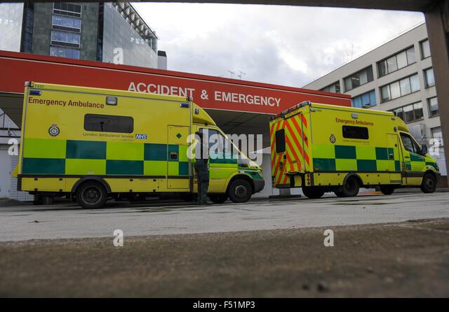Accident and emergency St Thomas hospital London - Stock Image