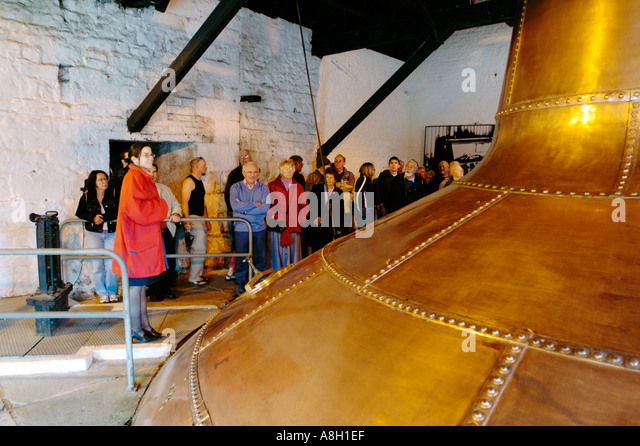 Ireland, County Cork, Old Midleton Distillery, Copper vat Stock Photo
