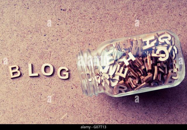 blog concept - Stock Image