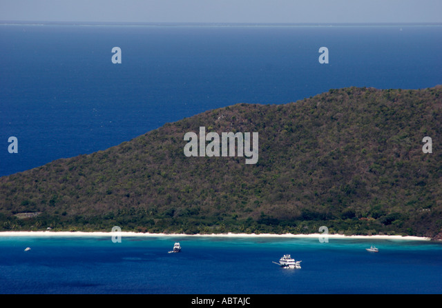 BVI Tortola Ridge Road North Shore Atlantic Ocean - Stock Image