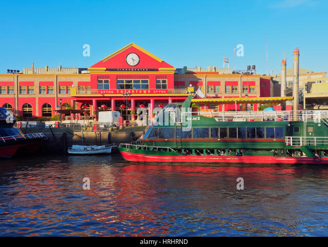 View of the Rio Tigre and China Town, Tigre, Buenos Aires Province, Argentina - Stock-Bilder