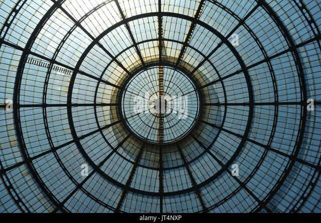 Roof of Galleria Vittorio Emanuele II, Milan, Lombardy, Italy, July 2017 - Stock Image