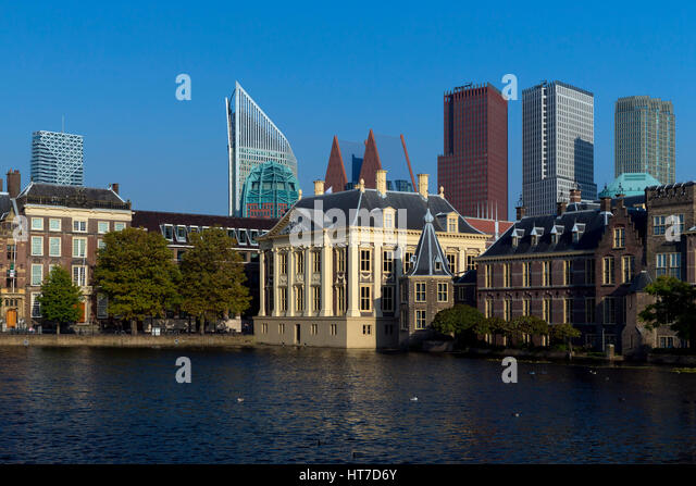 Royal picture gallery Mauritshuis and the Binnenhof,  The Hague, Netherlands, Europe - Stock Image