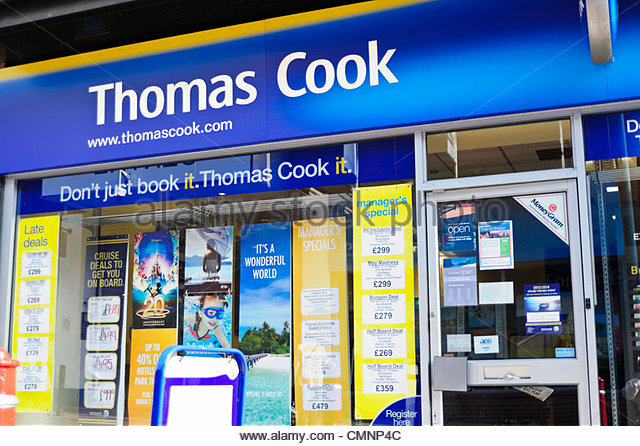 Thomas Cook travel agents shop in Kidderminster, UK. - Stock-Bilder