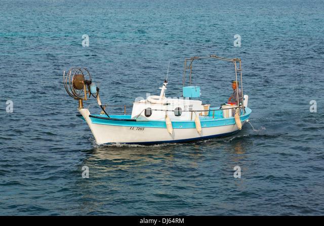 Cypriot fishing boat, Ayia Napa, Cyprus. - Stock Image
