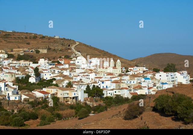 Driopida, ancient village, Kythnos, Cyclades, Greek Islands, Greece, Europe - Stock-Bilder
