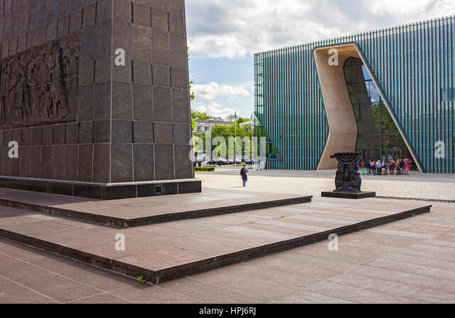 The Museum of the History of Polish Jews, Warsaw, Poland - Stock Image