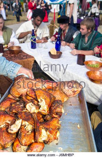 Deerfield Beach Florida Quiet Waters Park Florida Renaissance Festival turkey legs food - Stock Image