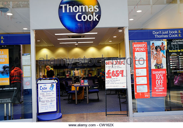 Thomas Cook travel agents in Bristol, UK. - Stock-Bilder