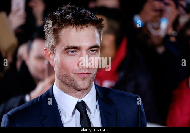 London, UK. 16th February 2017. Robert Pattinson arrives at the UK Premiere of the Lost City of Z on 16/02/2017 - Stock-Bilder
