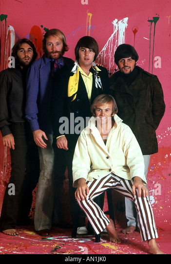 BEACH BOYS US group in 1968 from left Dennis Wilson Mike Love Carl Wilson Al Jardine Bruce Johnson - Stock Image