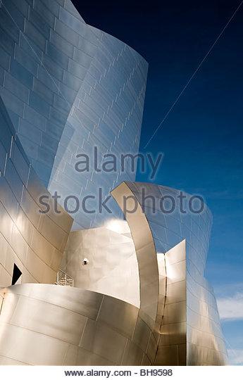 Walt Disney Concert Hall, Los Angeles, California, USA - Stock Image