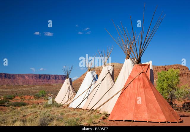 Teepees near Moab Utah - Stock Image