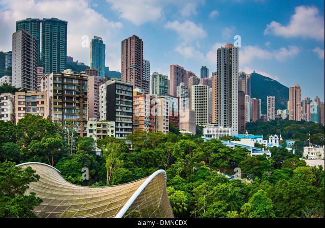 Hong Kong Park in Hong Kong, China. - Stock Image