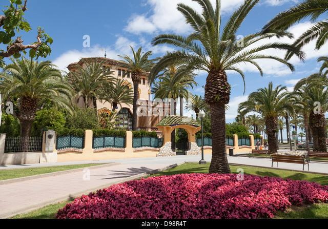 Xalet Bonet late modernism architecture at Salou Spain built by Ciriac Bonet. - Stock Image