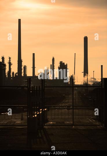 Oil refinery, England, UK - Stock-Bilder