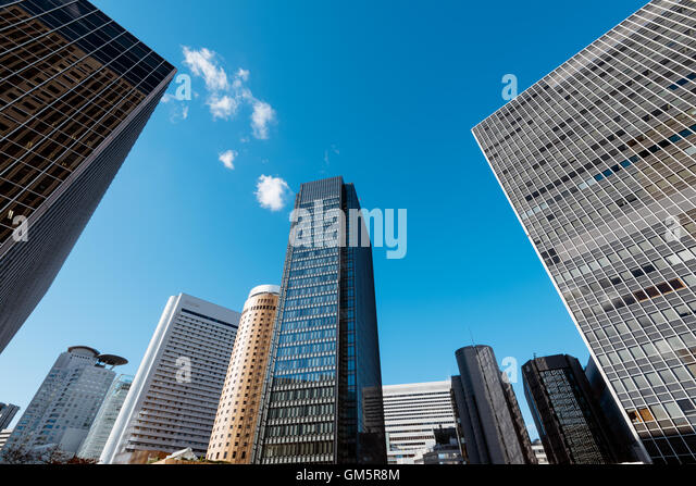 Osaka Central Business district. - Stock Image