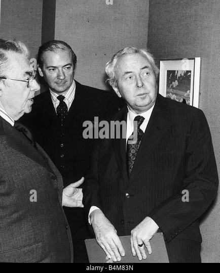 Harold Wilson former Labour Prime Minister of Great Britain at Grierson Day Luncheon at Canada House which was held - Stock Image