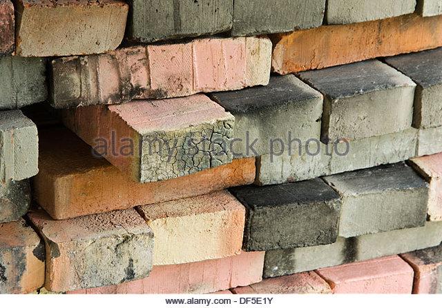 Burnt Clay Brick : Clay bricks stack stock photos