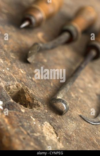old tools of the carpenter - Stock-Bilder