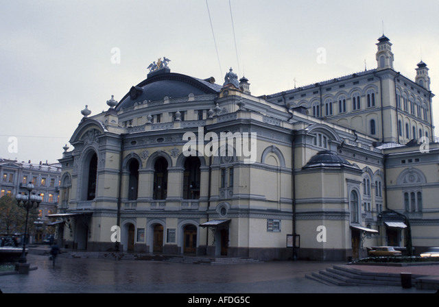 Ukraine Kiev Bolshoi Ballet and Opera building architecture - Stock Image