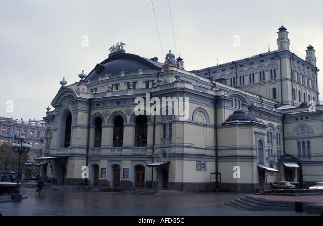 Ukraine Kiev Bolshoi Ballet and Opera building architecture - Stock Image