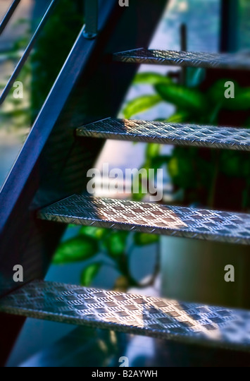 metal stairway [low angle view] - Stock-Bilder