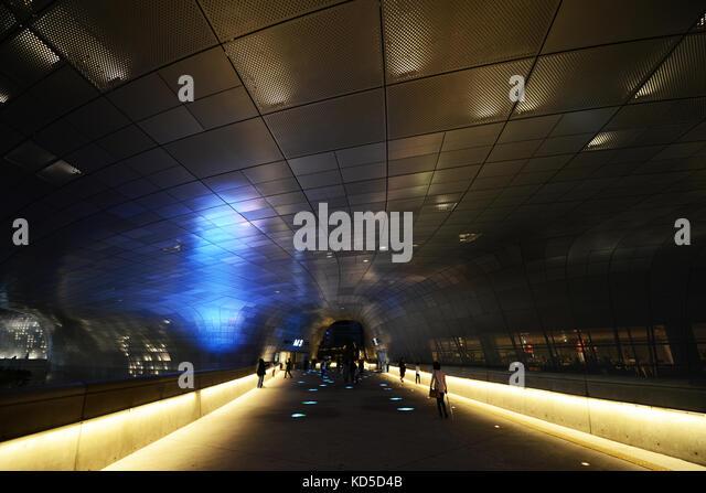 The Dongdaemun Design Plaza in Seoul, South Korea. - Stock Image