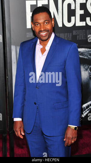 New York, USA. 19th Dec, 2016. Mykelti Williamson attends the 'Fences' New York screening at Rose Theater, - Stock-Bilder
